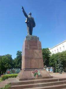 Lenin statue in Brest, Belarus