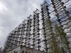Old Soviet radar system nearby Chornobyl, Ukraine