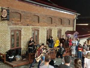 Open air concert in Minsk, Belarus