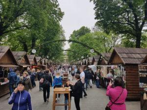 Street market in Lviv, Ukraine