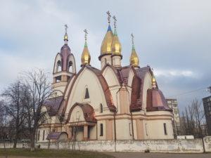 Orthodoxe kathedraal in Charkiv, Oekraïne