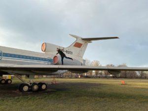 Old Aeroflot plane, Ukraine